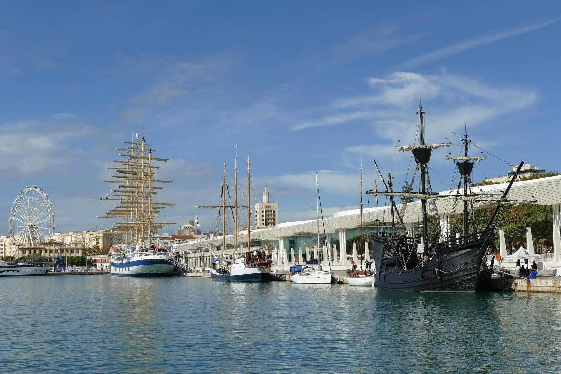 Malaga Port in Spain, visit Malaga